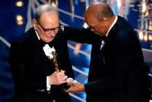 Ennio Morricone (L) and Quincy Jones
