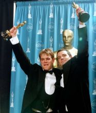Matt Damon (L) and Ben Affleck