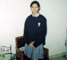 Sriti also shared a picture of herself as a schoolgirl.