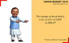 Arun Jaitley presents Union Budget for 2016-2017