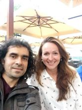Imtiaz Ali in a selfie with Alma Ferovic