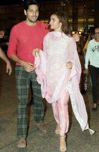 Sidharth Malhotra and Alia Bhatt at the Mumbai Airport