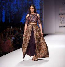 Bollywood actress Aditi Rao Hydari added star power to the third day of AIFW by walking the ramp for designer Shruti Sancheti.