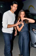 Sidharth Malhotra and Alia Bhatt during the promotions of Kapoor and Sons