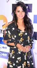 Anita Hassanandani looks her glam best in this black floral outfit.