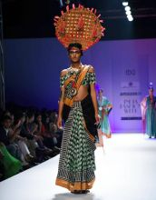 A model walks the ramp for designer Anupama Dayal. The designer's collection Fight and Feast was based on the tribes of Nagaland.