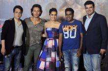 (L-R) Sajid Nadiadwala, Tiger Shroff, Shraddha Kapoor, Sabbir Khan and Siddharth Roy Kapur at the Baaghi trailer launch