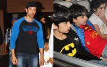 Hrithik Roshan and sons Hrehaan and Hridhaan