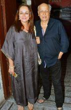 Mahesh Bhatt and Soni Razdan at the screening of Kapoor and Sons