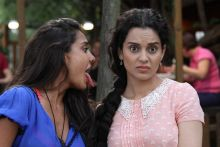 Lisa Hadyon and Kangana Ranaut in a still from Queen