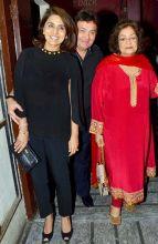 Neetu Kapoor, Rishi Kapoor and Hiroo Johar at the screening of Kapoor and Sons
