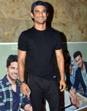 Sushant Singh Rajput at the screening of Kapoor and Sons