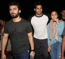(L-R) Fawad Khan, Sidharth Malhotra and Alia Bhatt