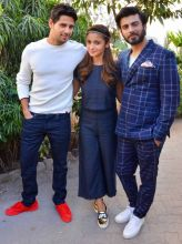 Sidharth Malhotra, Alia Bhatt and Fawad Khan during the promotion of Kapoor and Sons