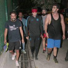 (L-R) Shoojit Sircar, Ranbir Kapoor and Arjun Kapoor