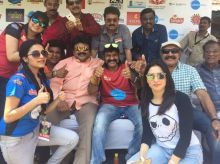 Actor Prabhu, Ballayya, Nilalgal Ravi, Janani Iyer and Vijay Kumar were also in attendance at the Natchithira Cricket.