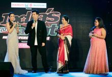 Malaika Arora Khan, Karan Johan and Kirron Kher at India's Got Talent launch.