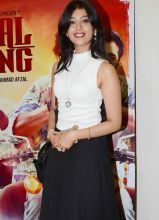 TV actress Digangana Suryavanshi looked classy in white top and black skirt.