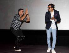 Akshay Kumar and Riteish Deshmukh at the trailer launch of Housefull 3