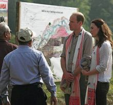 Prince William and Kate Middleton in Kaziranga National Park