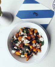The simplest of salads can be elevated to a gourmet level with roasted or grilled pumpkin cubes.
