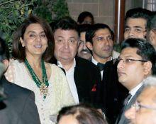 Neetu Kapoor, Rishi Kapoor and Farhan Akhtar at the Royal Gala Dinner