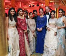 Bollywood stars with Kate Middleton and Prince William