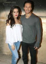 Shraddha Kapoor and Tiger Shroff during the promotion of Baaghi