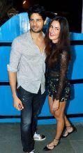 Sidharth Malhotra and Katrina Kaif at Baar Baar Dekho wrap-up bash