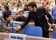 Kabir Khan and Gaurav Menon at 63rd National Awards