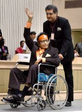 Manoj Kumar at 63rd National Awards