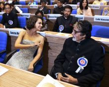 Amitabh Bachchan and Kanagana Ranaut at 63rd National Awards