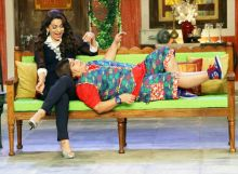 Juhi Chawla putting Chintoo Sharma aka Bharti Singh to sleep?