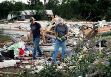 Damage due to tornado