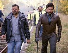 Suriya and Tirru at the sets of 24