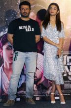 Vikas Bahl and Alia Bhatt at Ikk Kudi song launch
