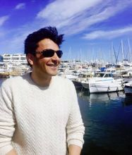 Chef Vikas Khanna enjoying the ambience of the French Riviera a day before the release of his documentary, Kitchens of Gratitude.