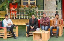 CID team is all smiles as they pose with Kapil Sharma.