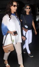 Juhi Chawla with her daughter Jhanvi