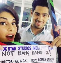 Jacqueline Fernandez and Sidharth Malhotra on the sets of their new film