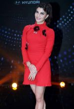 Jacqueline Fernandez looks stunning in red.