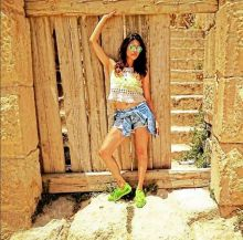Kishwer Merchantt who's all set to get married to Suyyash Rai this year poses for the shutterbugs.
