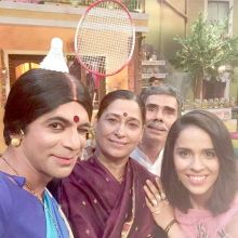 Saina and Sunil surely seem to be having fun on TKSS.