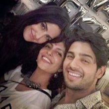 Katrina Kaif, Nitya Mehra and Sidharth Malhotra at Baar Baar Dekho wrap-up party