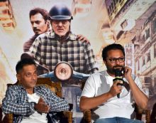 Sujoy Ghosh (L) and Ribhu Dasgupta at the trailer launch of TE3N