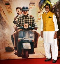Amitabh Bachchan at the trailer launch of TE3N