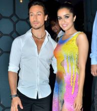 Tiger Shroff with Shraddha Kapoor at Baaghi success bash