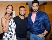 (L-R) Lisa Haydon, Riteish Deshmukh and Abhishek Bachchan