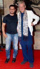 Aamir Khan (L) and Ian McKellen