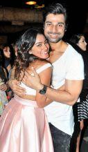 Jhalak Dikhhla Jaa's choreographer Hanif Hilal poses with Sana.